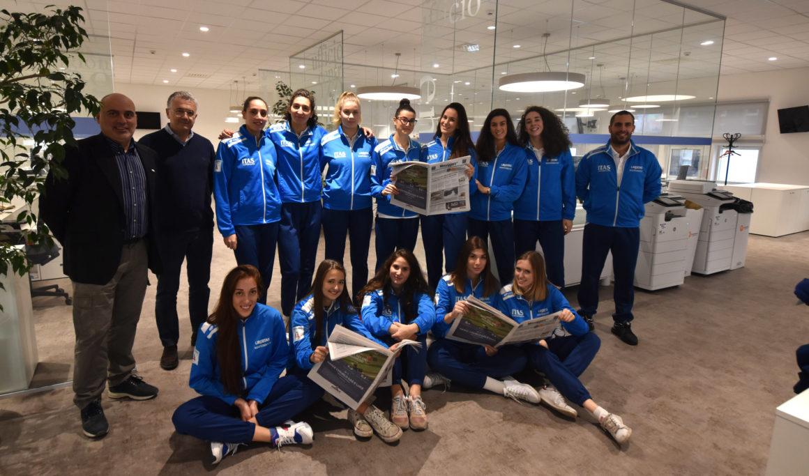 La visita della squadra al Messaggero Veneto