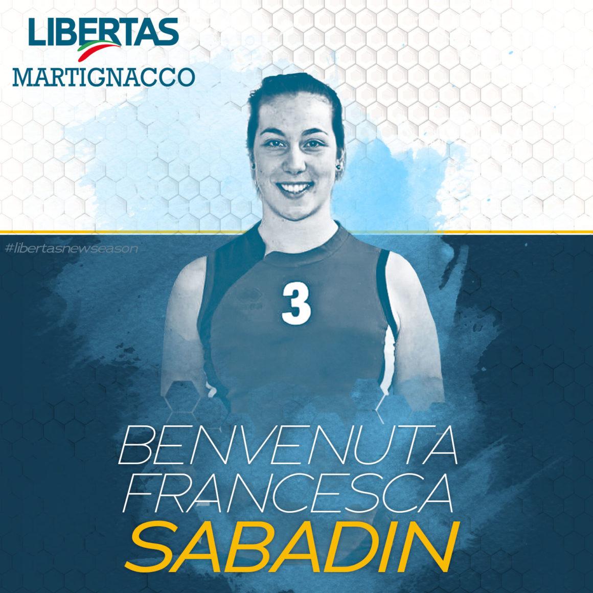 Ecco l'altra palleggiatrice: Francesca Sabadin!
