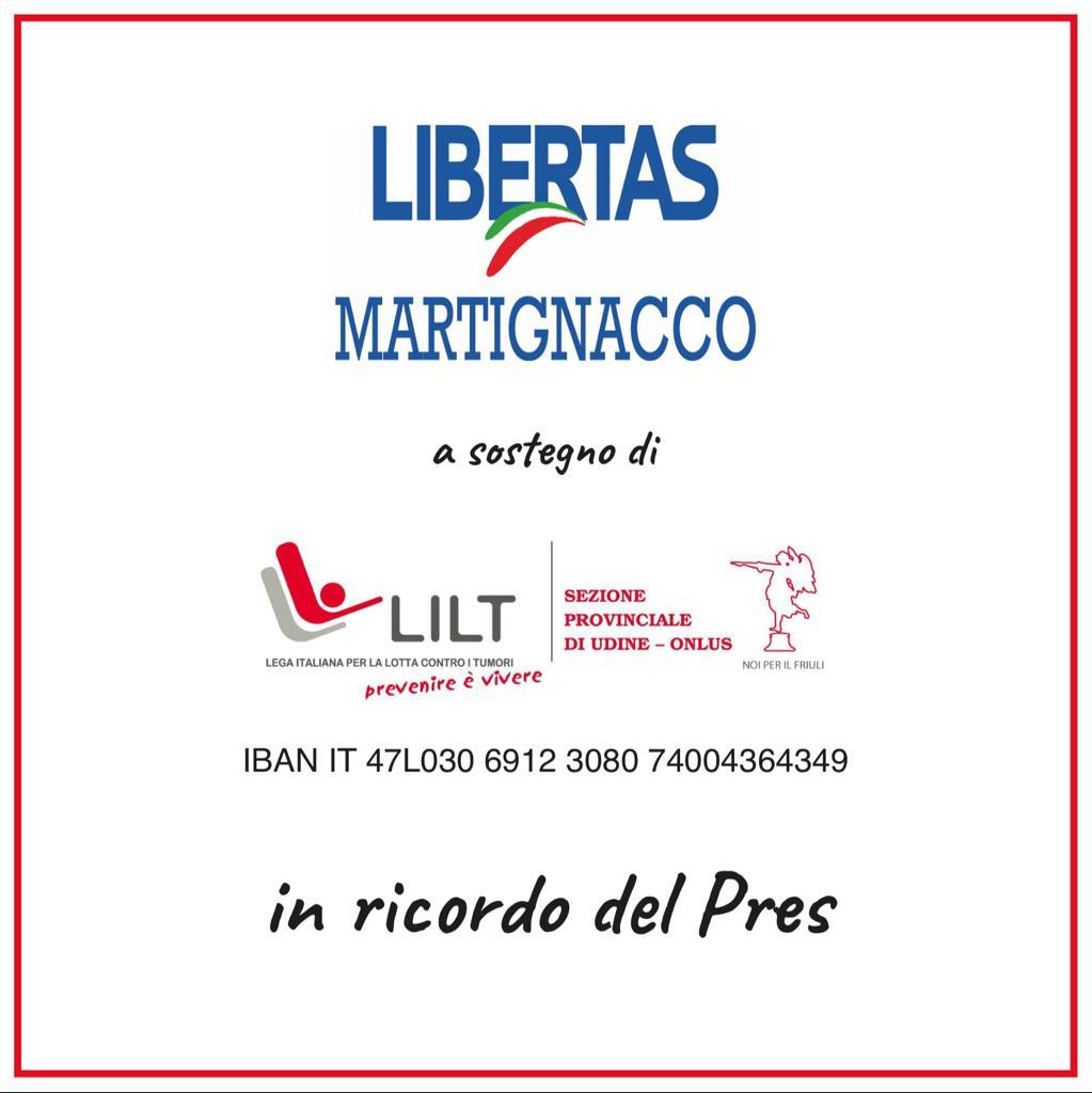 La Libertas ricorda il Pres con la Lilt Udine