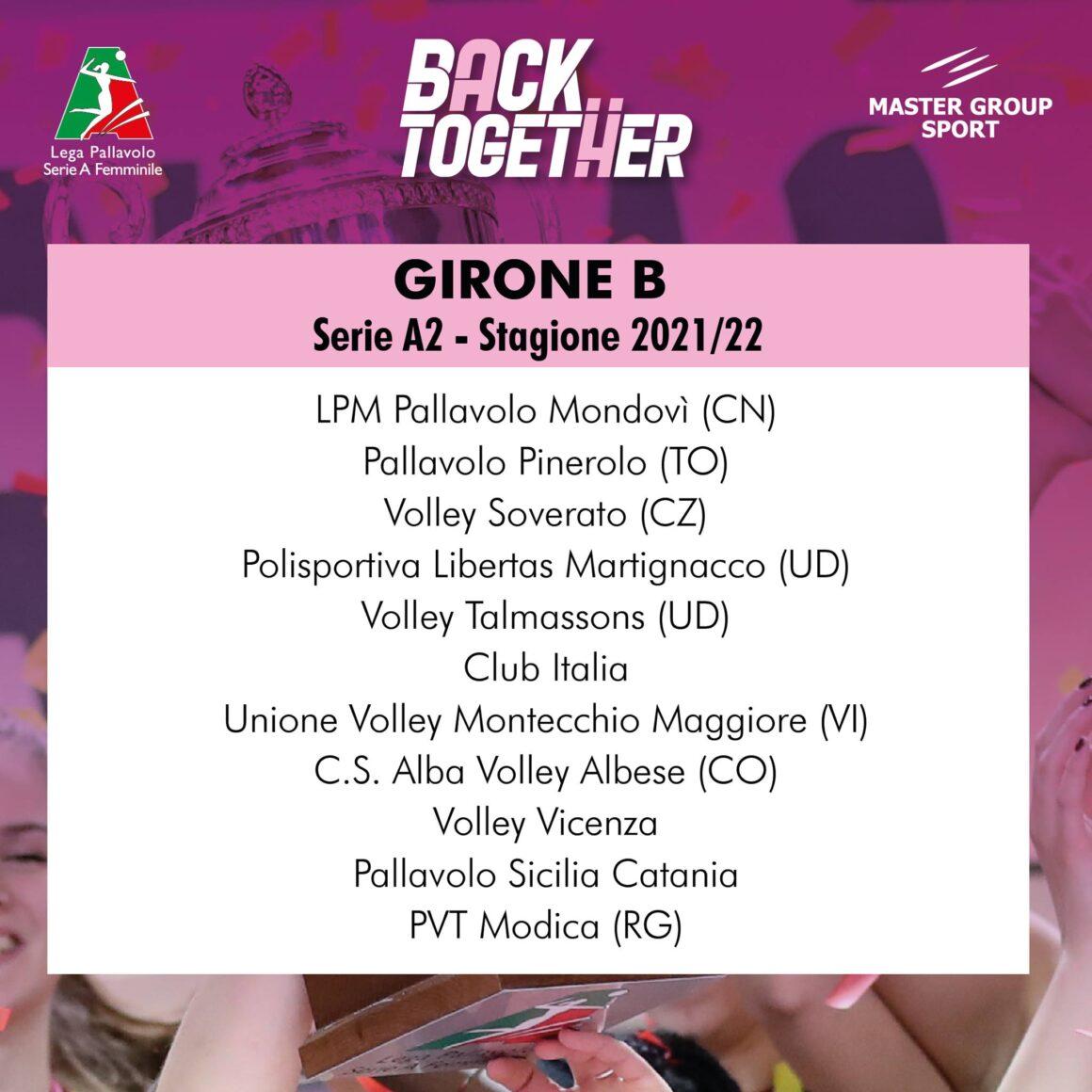 La Itas Ceccarelli Group è inserita nel girone B